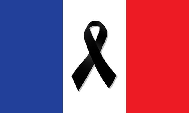 Bandera francia lazo negro